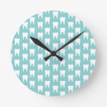 Tooth Fairy #1 - Blue Teeth Round Clock