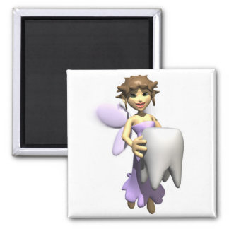 tooth fairy 2 inch square magnet