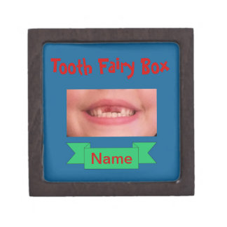 Tooth Fairy Box with Child's Smile RoyalBlue w/Red