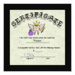 Tooth Fairy Certificate   Customize It! 5.25x5.25 Square Paper Invitation Card