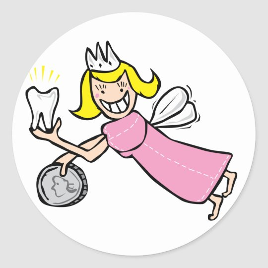 Tooth Fairy Classic Round Sticker