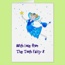 Tooth Fairy Congratulations Card