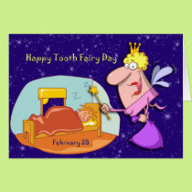 Tooth Fairy Day February 28 Card