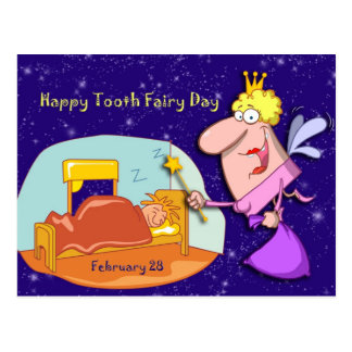 Tooth Fairy Day February 28 Postcard