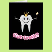 Tooth fairy got teeth card