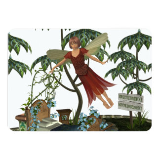 Tooth Fairy in Flight 5x7 Paper Invitation Card