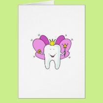 Tooth fairy princess congratulations. card