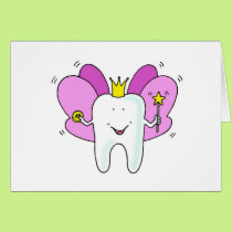 Tooth fairy princess congratulations. card