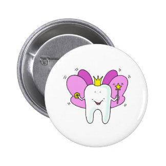 Tooth fairy princess congratulations. pinback button