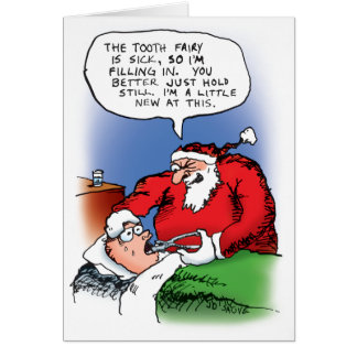 Tooth Fairy Santa Card