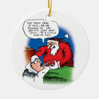 Tooth Fairy Santa Ornament