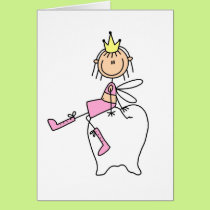 Tooth Fairy Sits On A Tooth Card