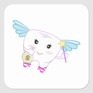 Tooth Fairy Square Sticker