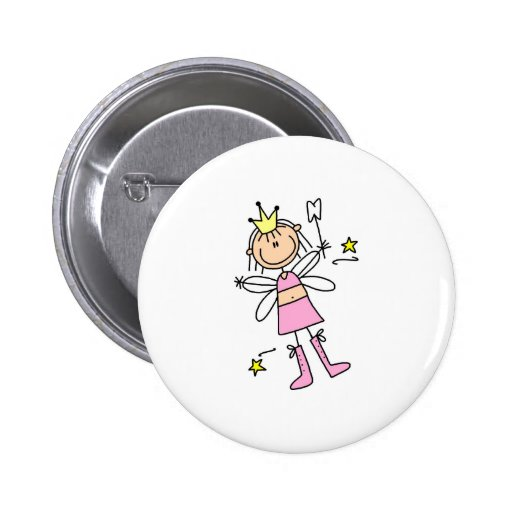 Tooth Fairy Stick Figure Button