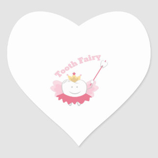 Tooth Fairy Heart Sticker