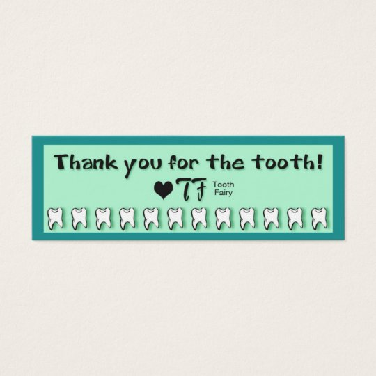Tooth Fairy Thank You Note Mini Business Card