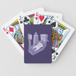 Tooth funeral bicycle playing cards