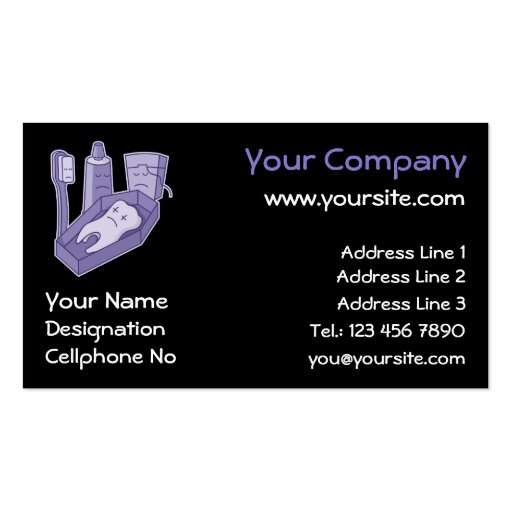 Tooth Funeral Business Card Zazzle
