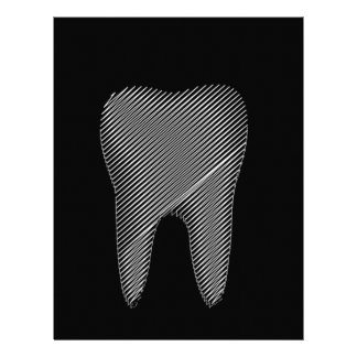 Tooth graphic for dentist letterhead