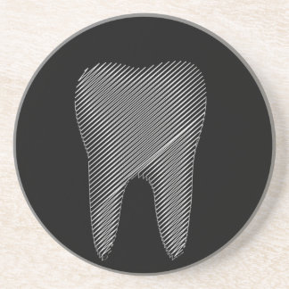 Tooth graphic for dentist sandstone coaster