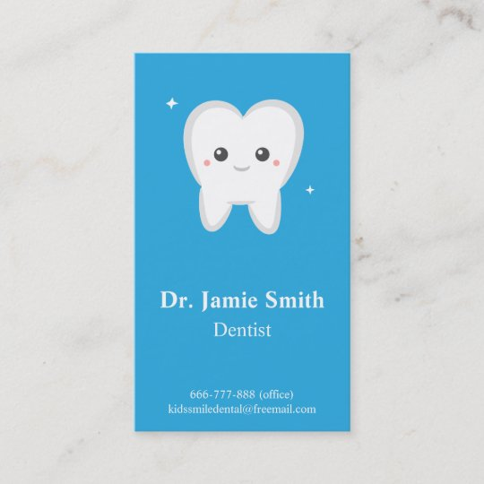 Tooth kids dental business and appointment cards zazzle tooth kids dental business and appointment cards reheart Image collections