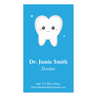 Tooth, Kids Dental, Business and Appointment Cards Business Card Templates