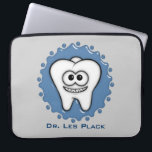 "Tooth Laptop Sleeve<br><div class=""desc"">Cute little tooth great for dentist,  dental assistants,  students and tooth fairies. Personalize it with your name or remove the text.</div>"