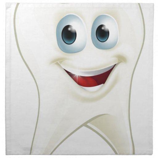 Tooth man printed napkins