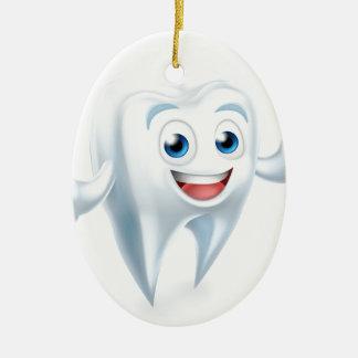 Tooth Mascot Ceramic Ornament
