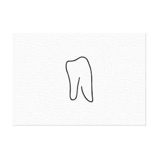 Tooth molar dentist Karies Canvas Print