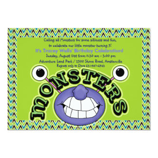 Tooth Monster Birthday Party Invitation