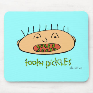 tooth pickles mouse pad