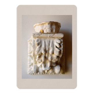 tooth sculpture flat card