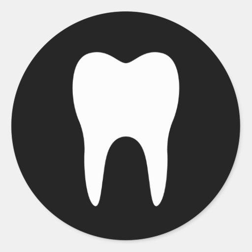 Tooth silhouette black dentist dental sticker | Zazzle