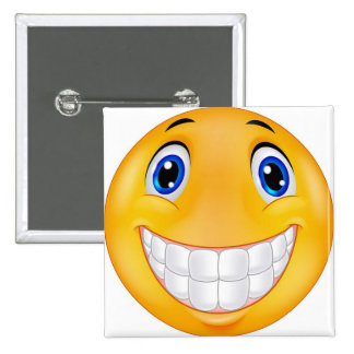 tooth smile 2 inch square button