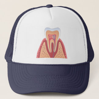 TOOTH STRUCTURE TRUCKER HAT