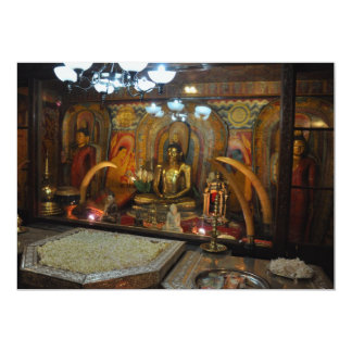 Tooth temple 5x7 paper invitation card