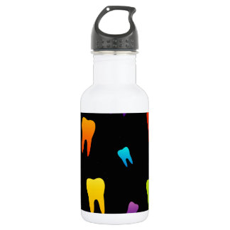 Tooth wallpaper for dentist 18oz water bottle