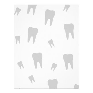 Tooth wallpaper for dentist personalized letterhead