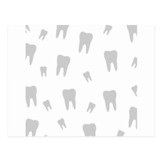 Tooth wallpaper for dentist postcard