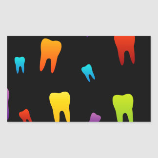 Tooth wallpaper for dentist rectangular sticker