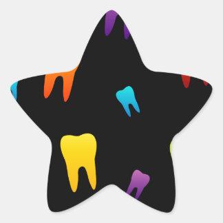 Tooth wallpaper for dentist star sticker