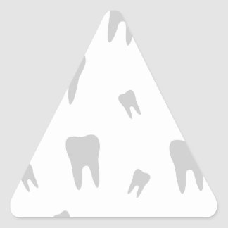 Tooth wallpaper for dentist triangle sticker