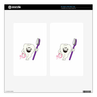 Tooth with Brush Kindle Fire Decal