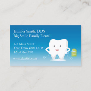 Dental hygiene business cards templates zazzle tooth with floss dentist business card reheart Gallery