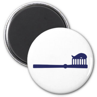 Toothbrush 2 Inch Round Magnet