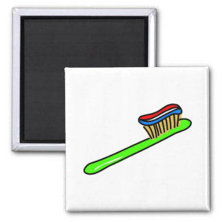 Toothbrush 2 Inch Square Magnet