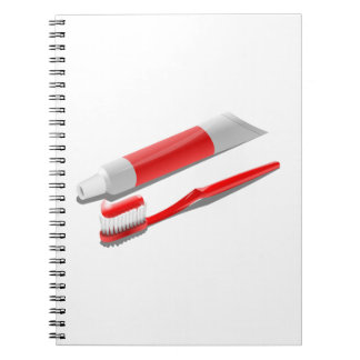 Toothbrush And Toothpaste Notebook
