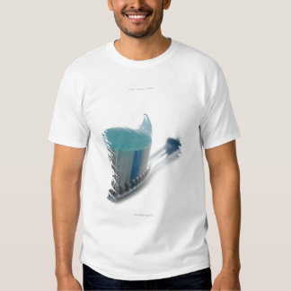 Toothbrush and toothpaste tee shirt