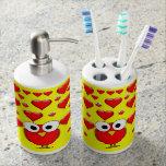 toothbrush holder soap dispenser bathroom set